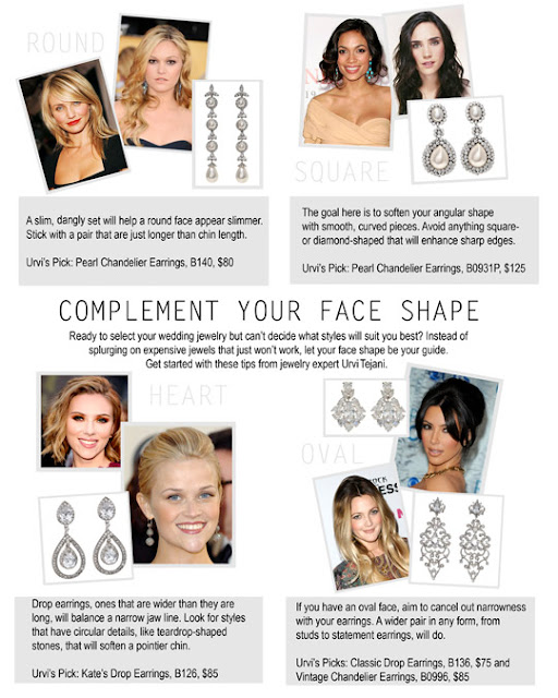 Choosing the right earrings for your face shape