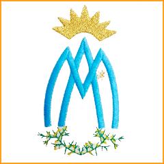 El anagrama de la Virgen de la Aliaga