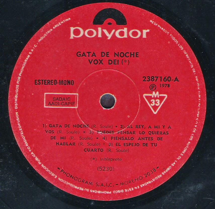 Vox Dei - Gata de Noche (1978)