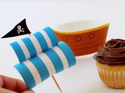 Vela barco pirata en magdalenas