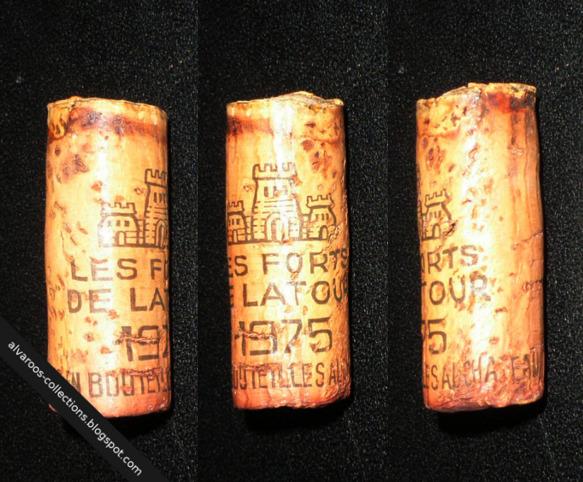 Destroyed wine cork: Les Forts De Latour 1975