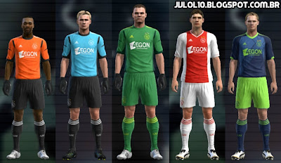 Kit do Ajax Amsterdam 2012/13, Kitset do Ajax 2012/13 para PES 2012 Download, Baixar Uniforme do Ajax 2012/13 para PES 2012