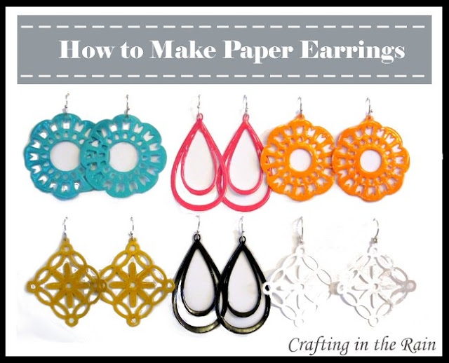 cute earrings from PAPER!!!! I know some of you are going to try this