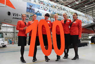 Jetstar crew unveiling the airline's newest Airbus A320
