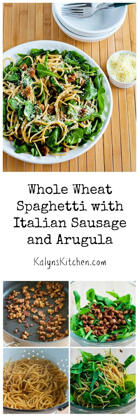 ... Kitchen®: Whole Wheat Spaghetti with Italian Sausage and Arugula