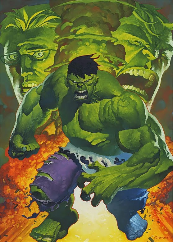 The hulk art by Chris Stevens