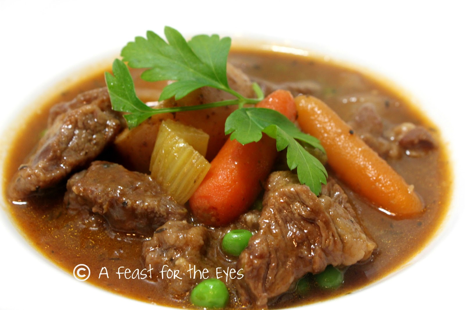 Feast for the Eyes: Classic Beef Stew for a rainy day in California