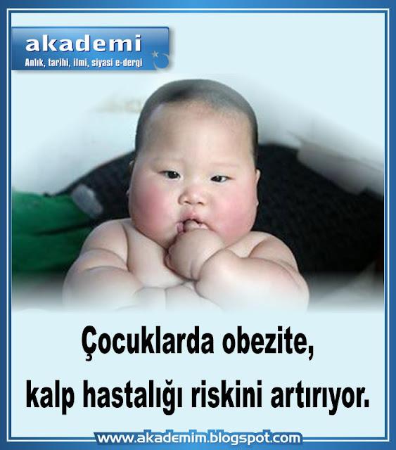 Çocuklarda obezite, kalp hastalığı riskini artırıyor.