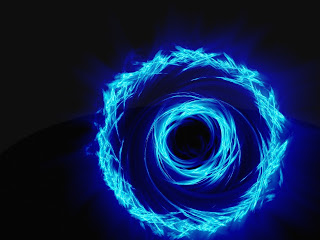 Abstract Blue Light wallpaper
