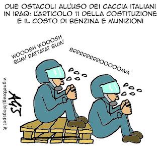 Iraq, tornado, isis, costituzione, articolo11, vignetta satira