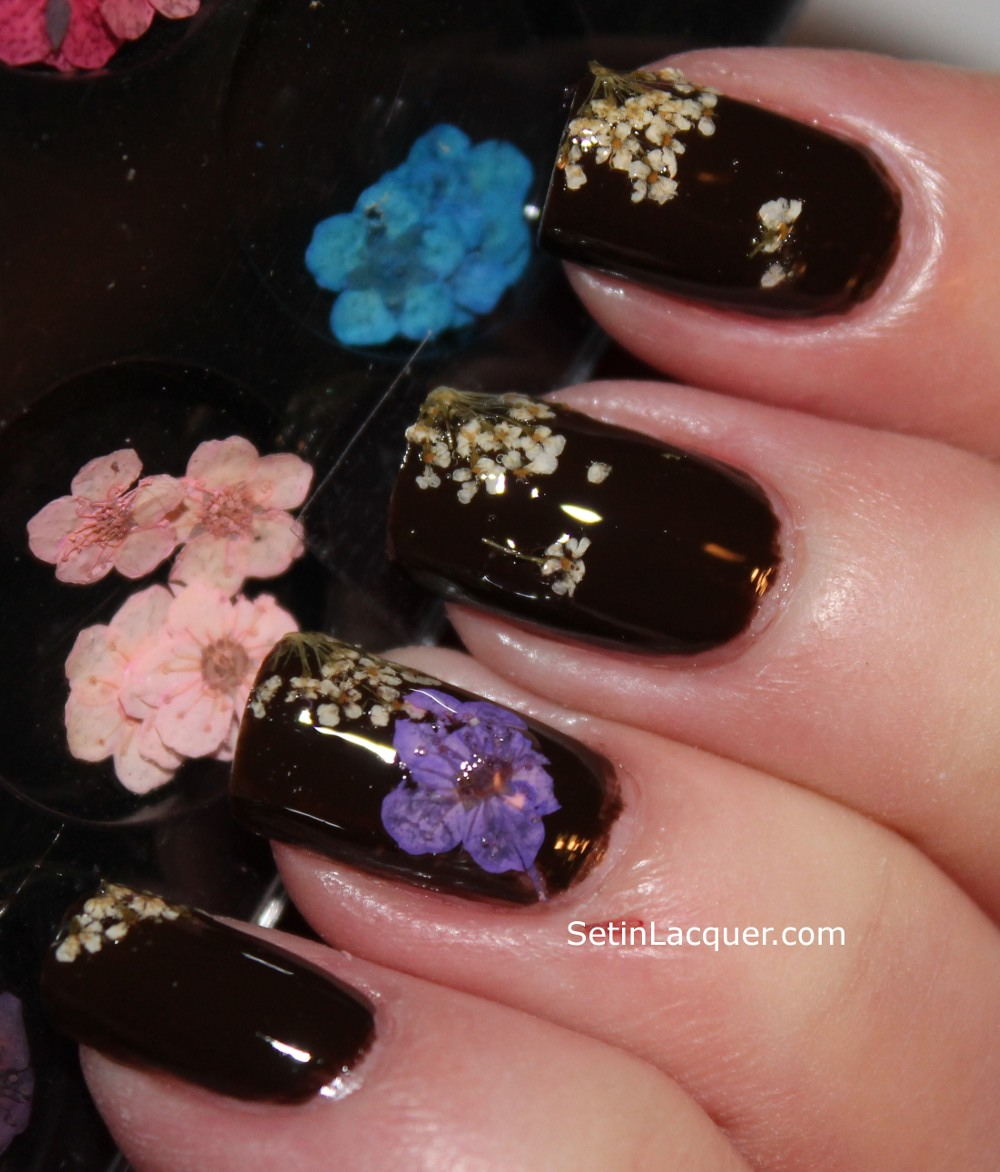 Mash nail dried flower nail art set in lacquer mash nails dried flower nail art prinsesfo Gallery