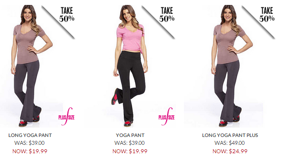 fredericks yoga pants 50% off free shipping
