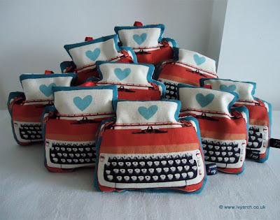 typewriter love lavender bags