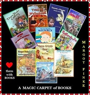 A MAGIC CARPET RIDE  - Click picture to see books on my WEBSITE