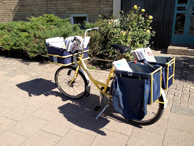 bicycle mail delivery
