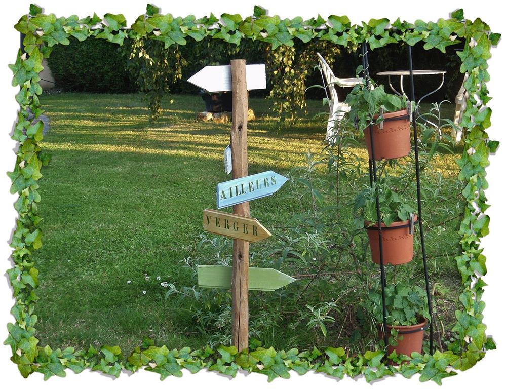 Les mains dans la t te d coration de jardin pancartes for Deco pour le jardin
