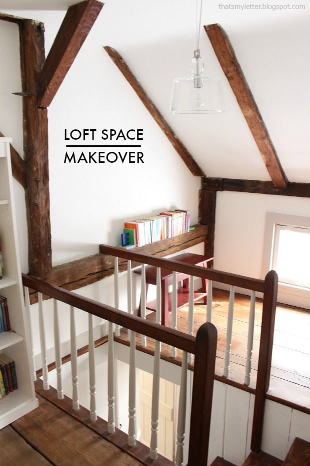 loft space with ceiling beams