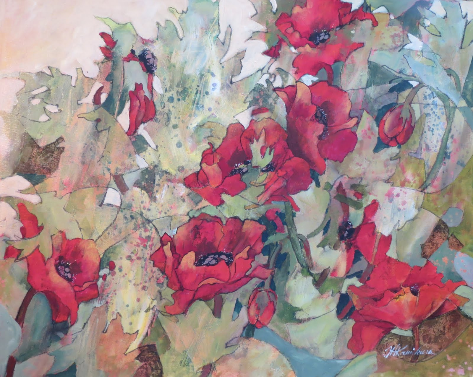 Poppies in the Midst 24x30