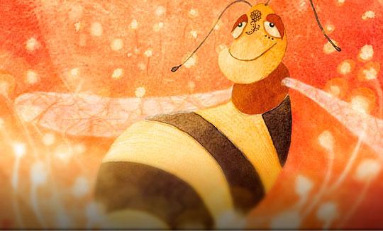 Ilustración, Las fantasías de una abeja de Claudia Badesa