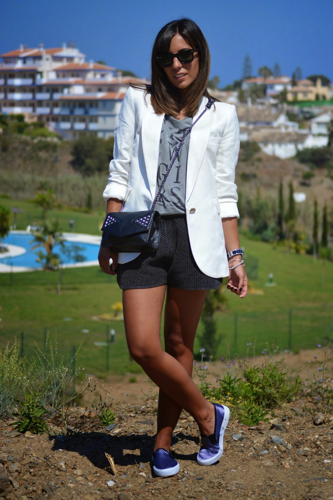street style style fashion ootd fashion blogger malagueña blogger malagueña  outfit look me girl purse designer swag outfi look chic casual love lovely gorgeous moda mood trend inspiration cristina style slip on blazer mango