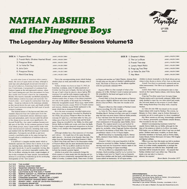 Nathan Abshire Pine Grove Blues