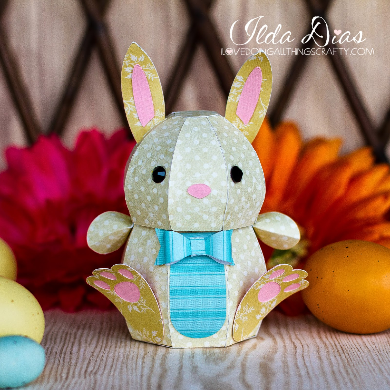 I love doing all things crafty 3d paper easter bunny these little guys make the perfect treat box for easter gifts just fill them up with a small gift or some easter chocolates super easy negle Gallery