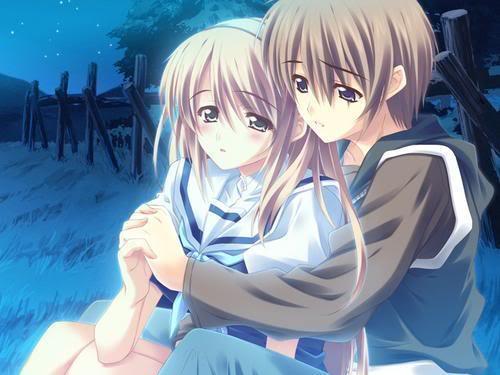 anime couple hugging wallpapers - photo #46