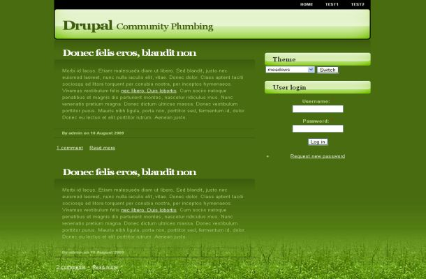 Free Greeny Field Nature Drupal Theme Template