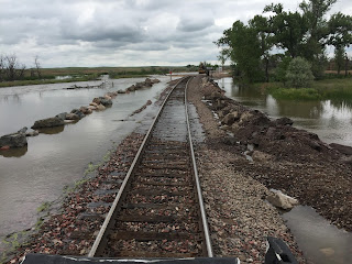 photo of railroad tracks near Messex Colorado Flooding