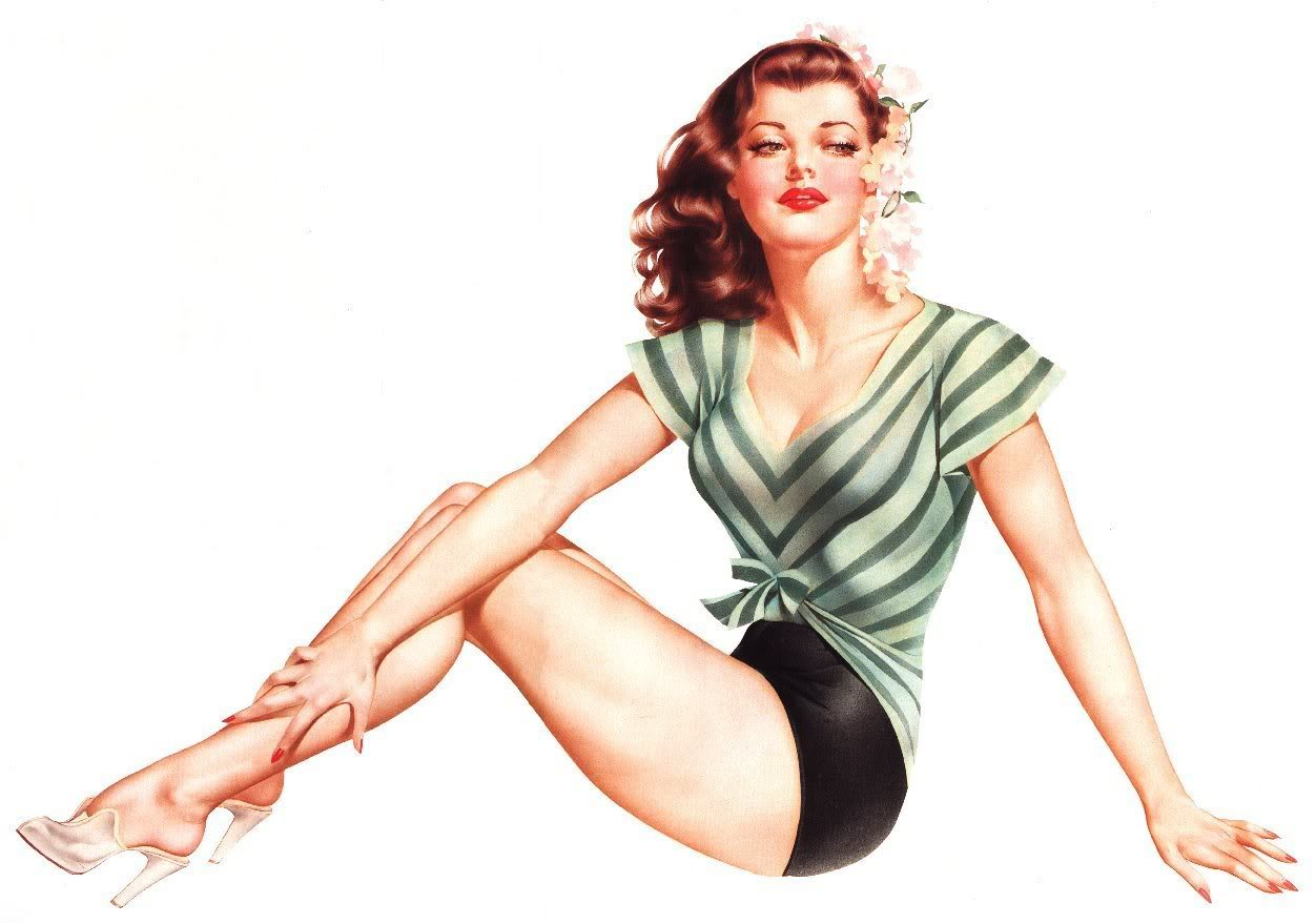 ilustra o as pin ups do artista alberto vargas mente flutuante retr. Black Bedroom Furniture Sets. Home Design Ideas