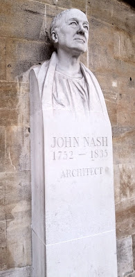 Bust of John Nash, outside All Souls Langham Place, London
