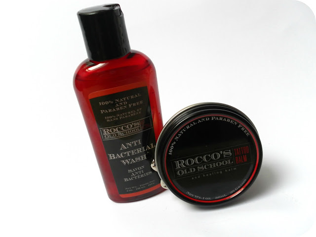 Rocco's Old School Anti-Bacterial Wash and Rocco's Old School Tattoo Balm