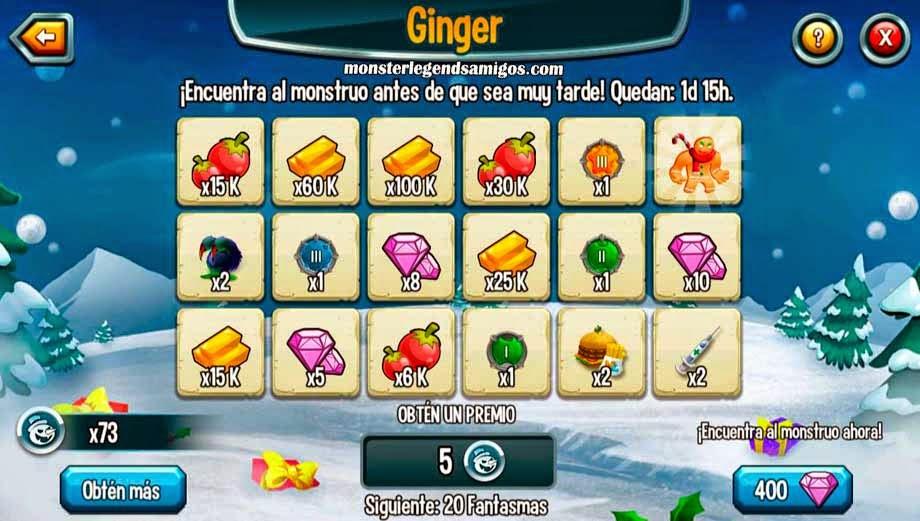 imagen de los premios de quinta guarida de la isla navidad de monster legends