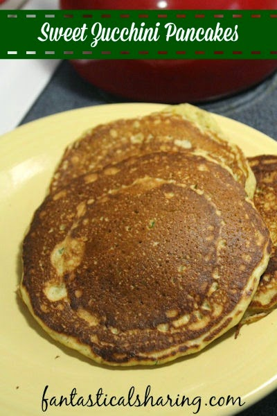 Sweet Zucchini Pancakes   The perfect morning treat to use up that yummy summer squash! #breakfast #recipe
