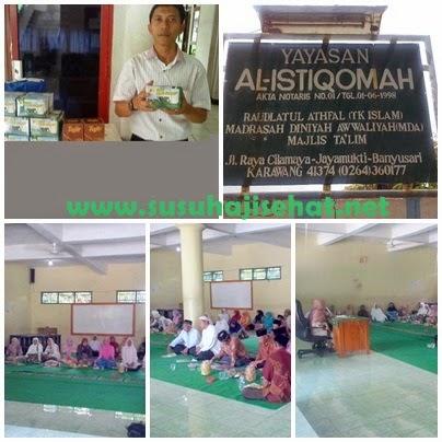 Edukasi Kesehatan Calon Jama'ah Haji KBIH AL-ISTIQOMAH bersama Gema Hati dan Susu Haji Sehat