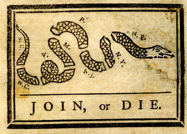 Join Or Die Snake Only Honest to Godless: One...