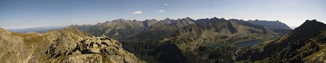 Panorama z Małej Buczynowej Turni.