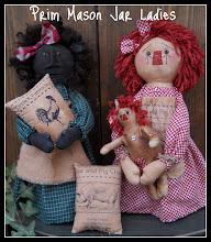 Prim Mason Jar Ladies e-pattern