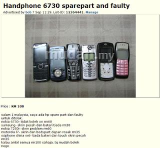 Phone Rosak Untuk Dijual