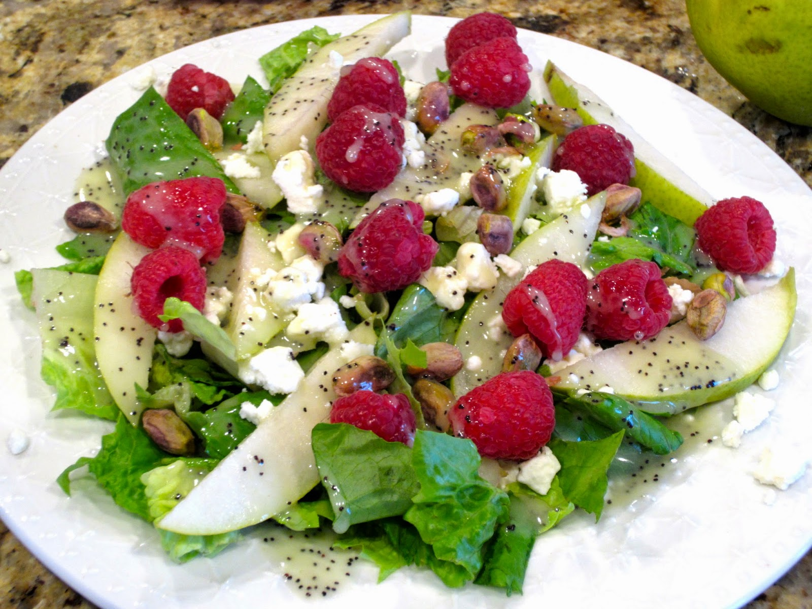 Pear and Raspberry Salad