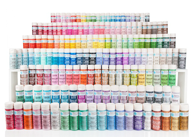 Paper lane introducing martha stewart craft paints for Using fabric paint on glass