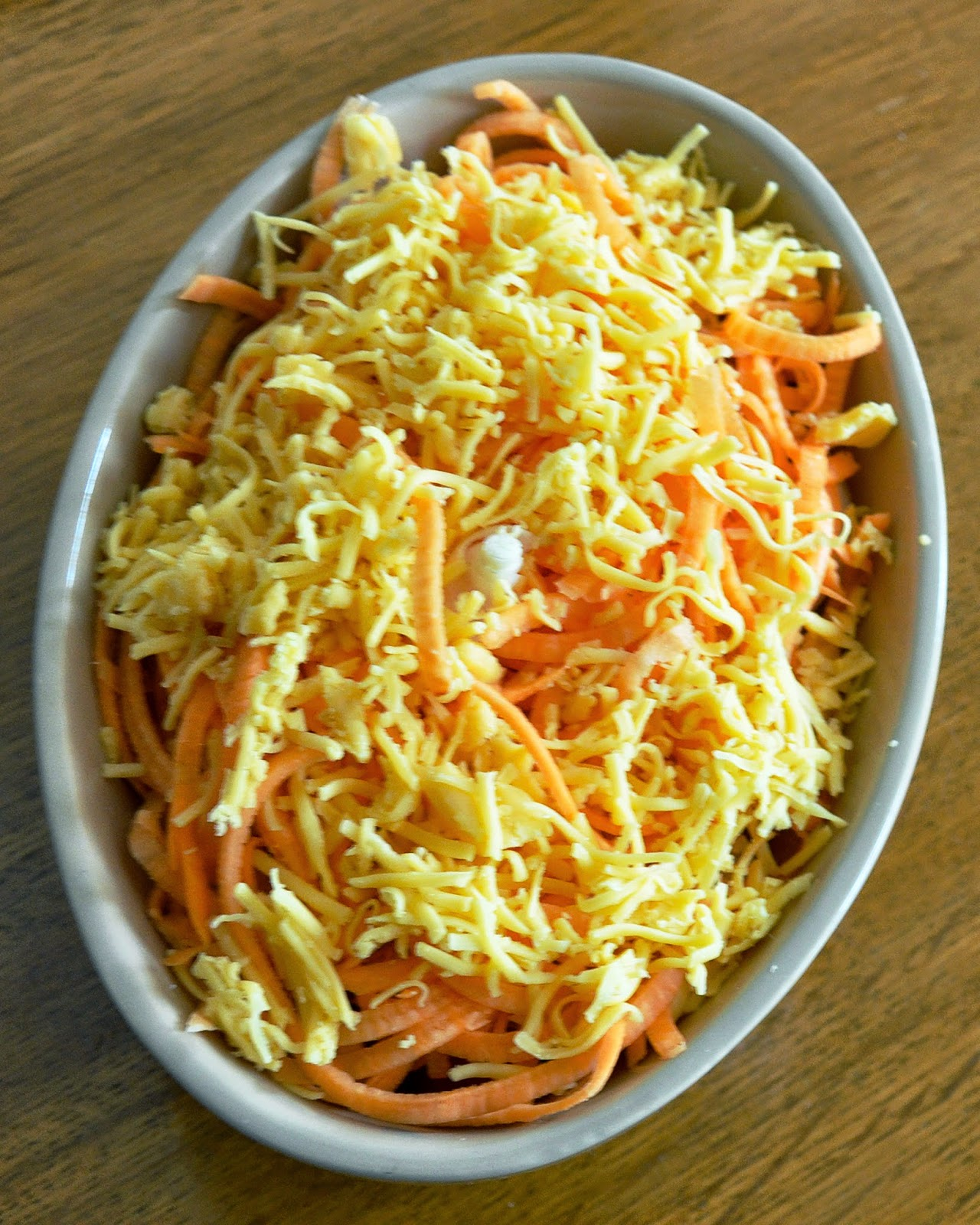sweet potato noodles and feta cheese bake
