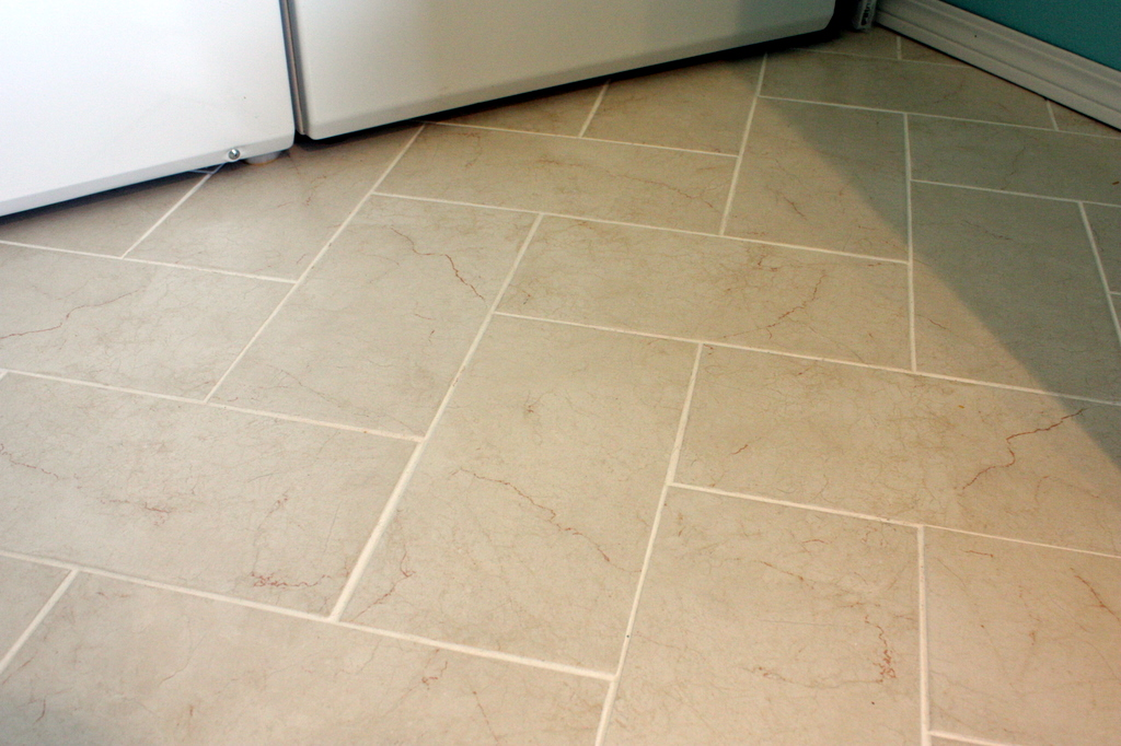 Sweet something designs diy herringbone tile floor for 12x24 tile patterns floor