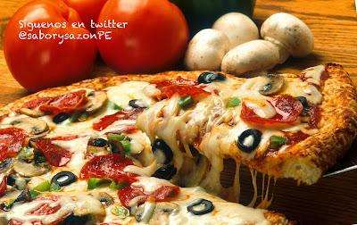 COMO PREPARO UNA PIZZA  - como preparar una  pizza - http://comopreparoun.blogspot.com