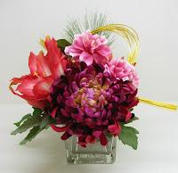 菊・椿・アマリリスのお飾り
