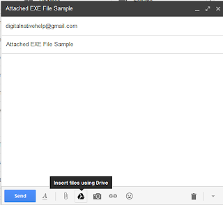 attach files using google drive