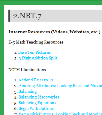 CCSS Math – A Wonderful Collection of Resources for Every Standard