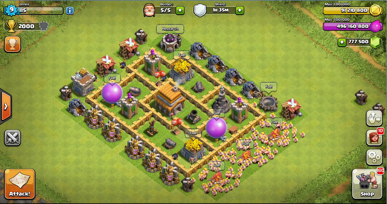 Town hall 5 war base search results web design