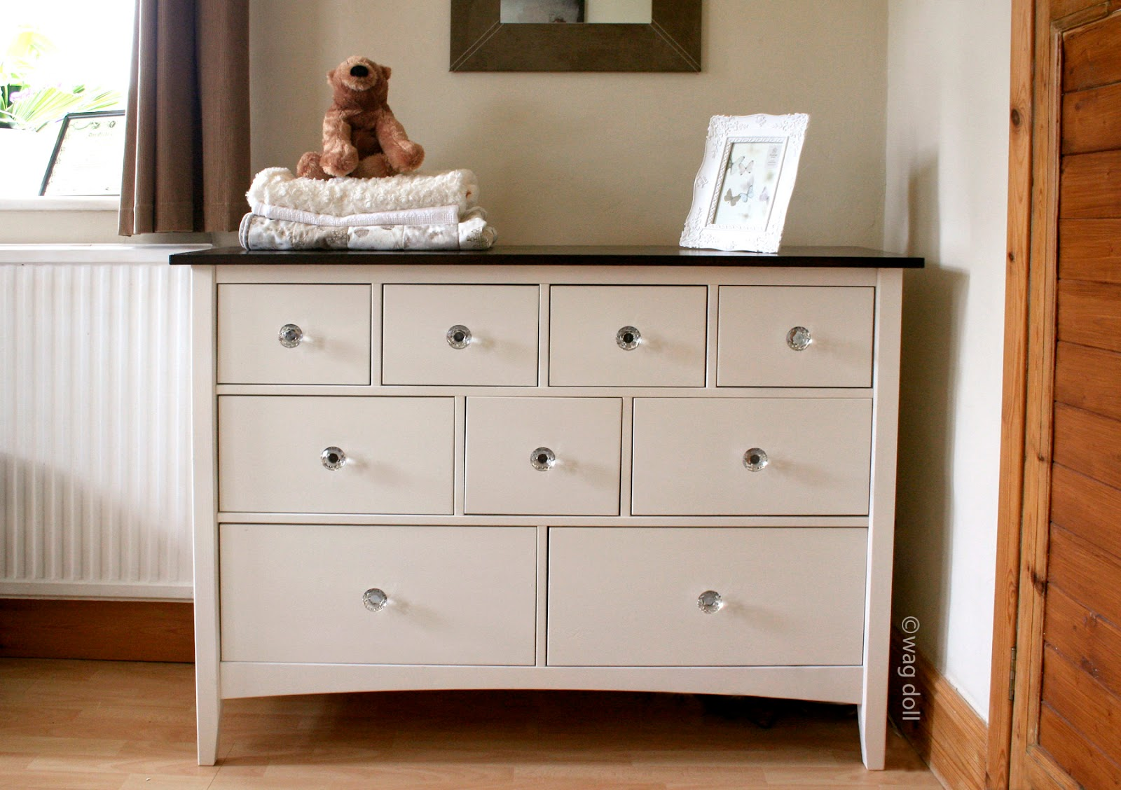 Nursery chest of drawers makeover a spray paint tutorial