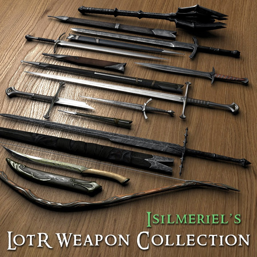 Skyrim mods br isilmeriel 39 s lotr weapons mod armas for Oficina armas